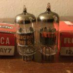 NOS 12ay7 vacuum tubes